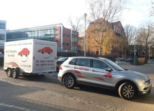 Unser VW Tiguan Automatik kann auch mit Anhänger gefahren werden